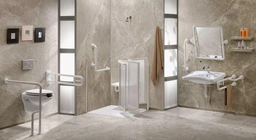 Baño minusvalidos elegante