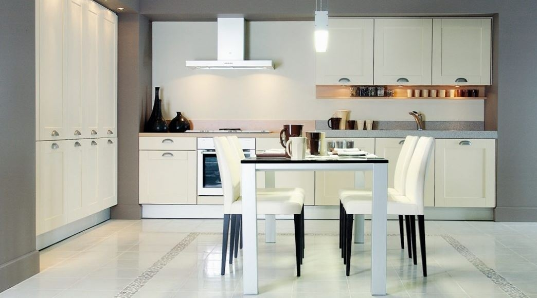 Cocina, mafil y blanco, encimera stone