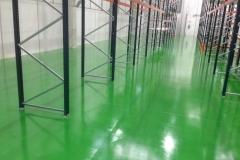 Nave pintura suelo verde, resto gris claro