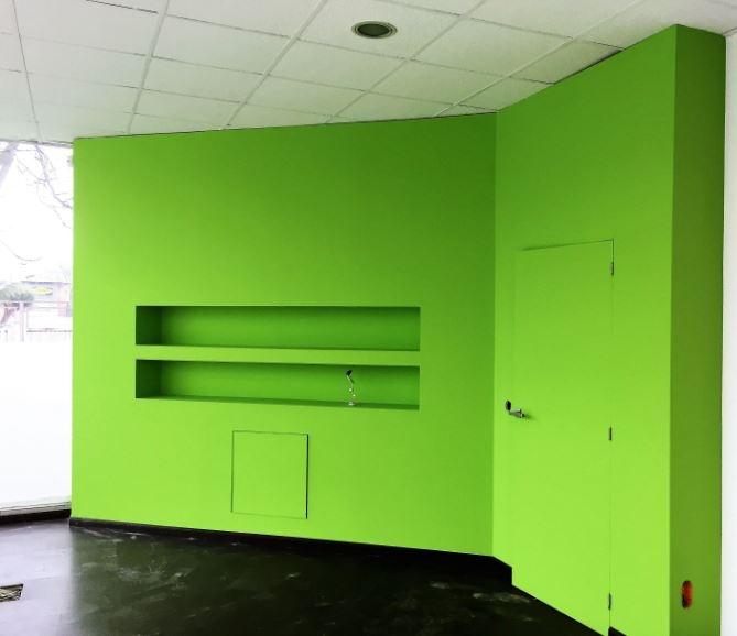 Mural verde manzana