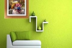 Rincon en gotelé color verde
