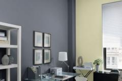 Sala color gris, vainilla y blanco