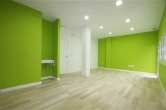 Pintores: oficina colores blanco y verde