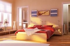 Dormitorio color rosáceo