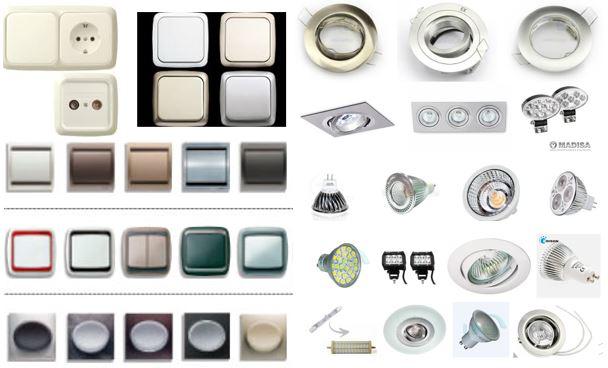 Mecanismos enchufes interruptores halogenos led - Tipos de interruptores de luz ...