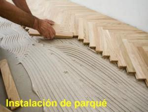Arcolinea: instalación de parqué a espiga