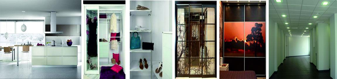 Arcolínea: Cuatro fotos. Reformas de cocina moderna. Interior de armario. Frentes de dos armarios. Vista interior de local comercial