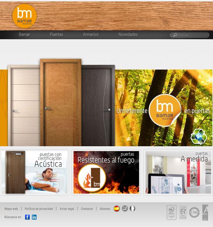 Arcolínea: acceso a URL de puertas BAMAR con foto pagina principal de BAMAR