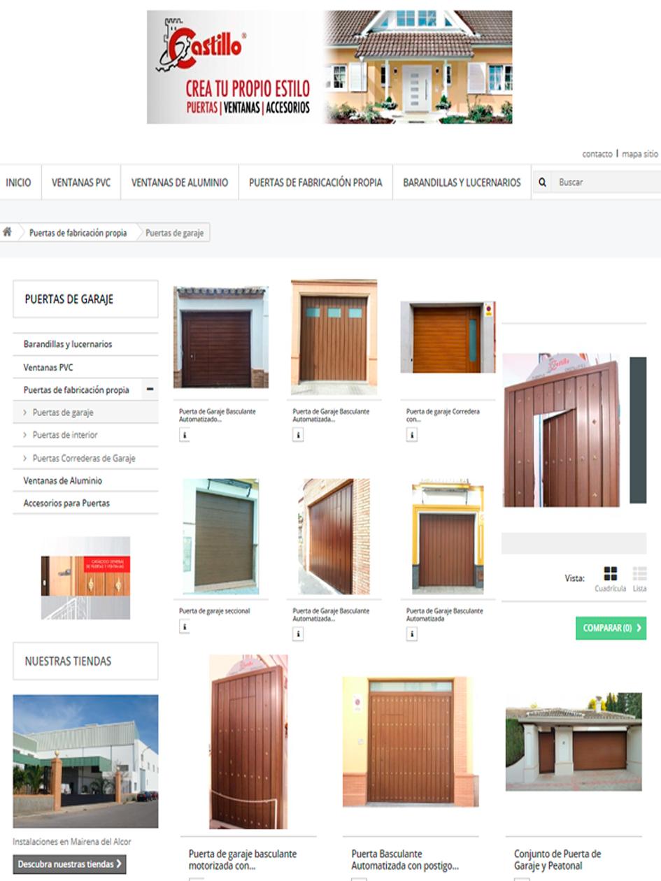 Arcolínea: acceso a URL de puertas Castillo con foto pagina principal de CASTILLO