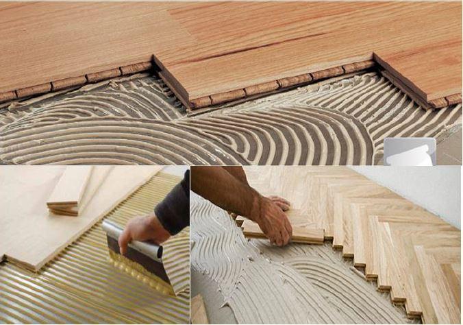 Arcolínea: Instalación de parqués y tarimas pegadas