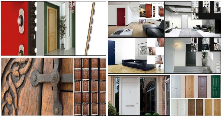 Puertas, armarios y molduras. Puertas de entrada: blindadas, acorazadas, de madera maciza y metálicas