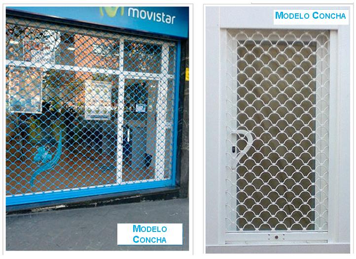 Dos fotografías del modelo concha, cierres metálicos.